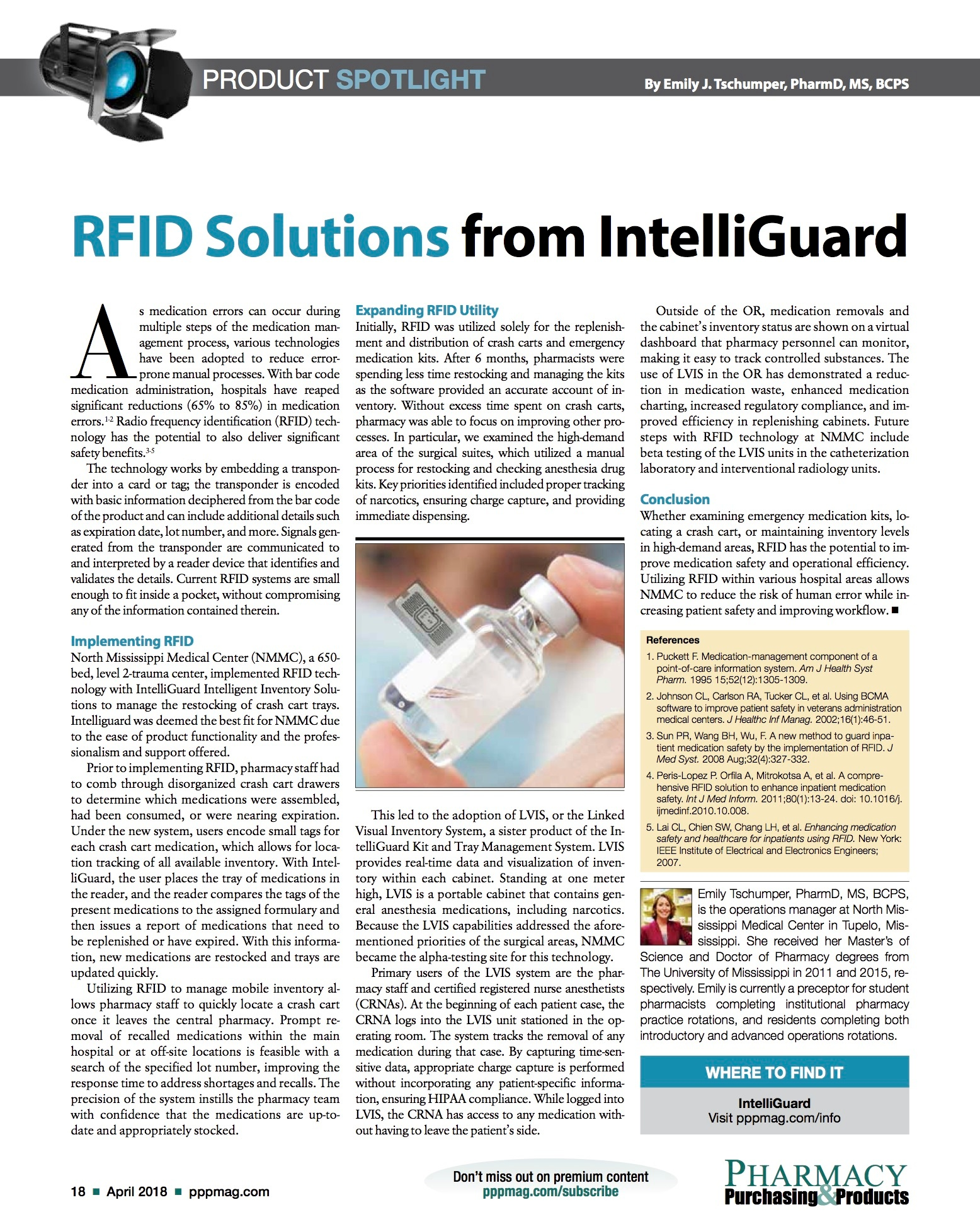 Pharmacy Purchasing & Products – Product Spotlight: RFID